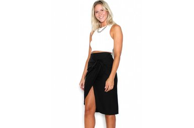 AMARA FRONT TIE PENCIL SKIRT