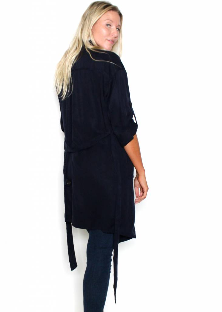 TOPANGA NAVY TRENCH COAT