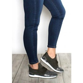 SKYLAR OLIVE LACE UP SNEAKERS