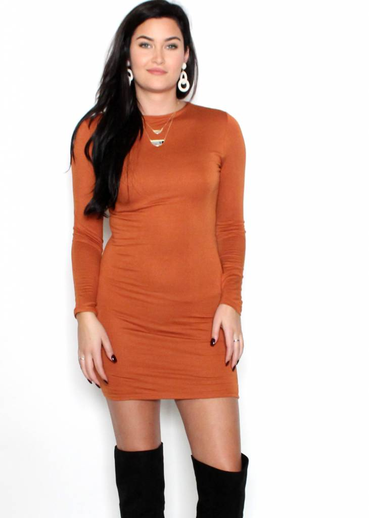 MAGNOLIA LONG SLEEVE BODYCON DRESS
