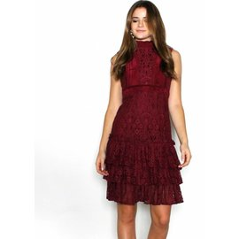 GISELLE BURGUNDY LACE DRESS