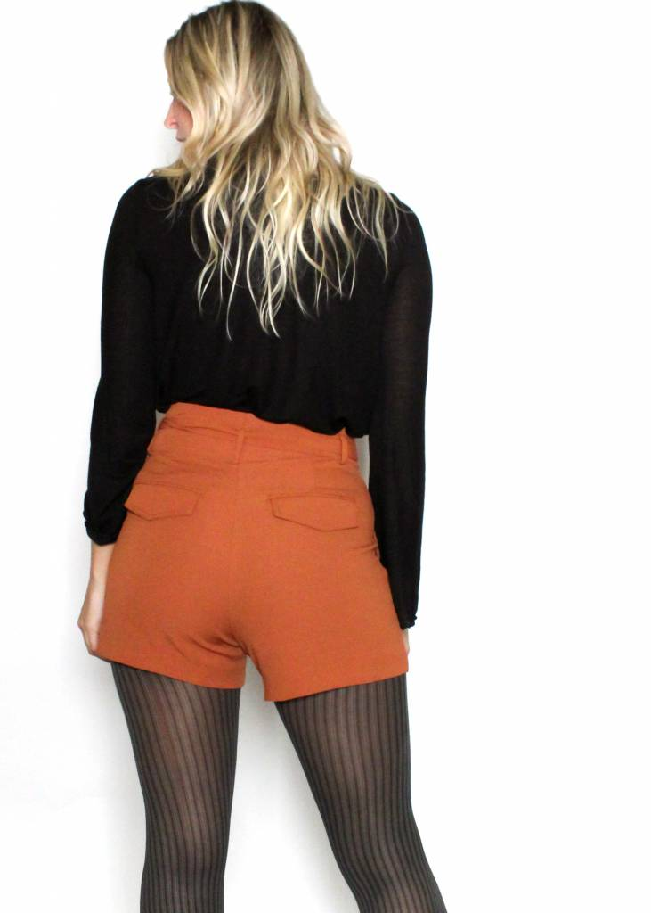 CARLY HIGH RISE BELTED SHORTS