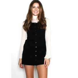 CARSON BLACK BUTTON UP DRESS