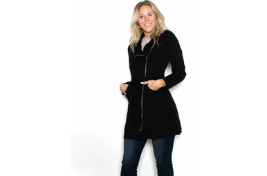 CLOVER BLACK TRENCH COAT