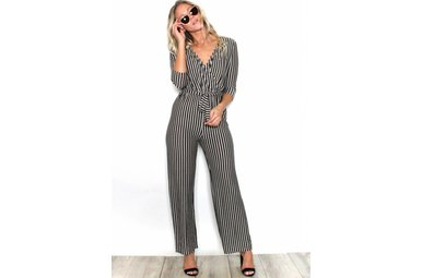WREN SUPER SOFT STRIPED JUMPSUIT