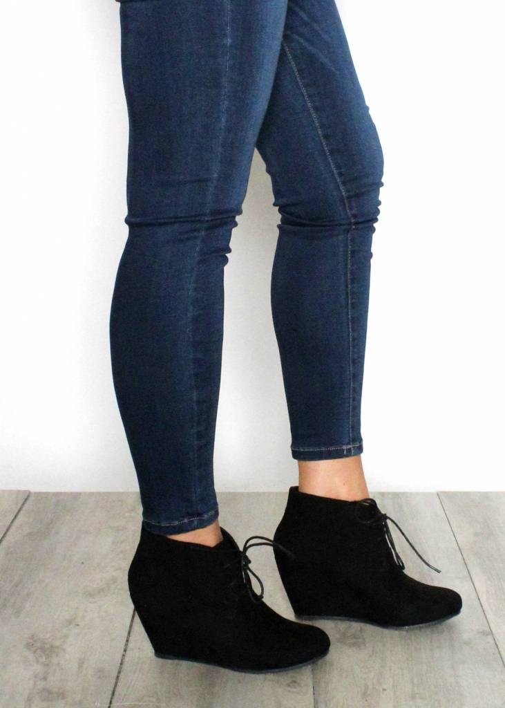 ELENA LACE UP BOOTIES