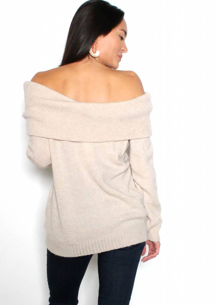 DEMI OFF THE SHOULDER SWEATER