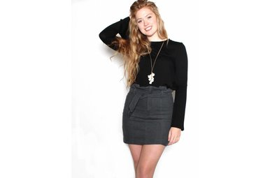 EVELYN CORDUROY MINI SKIRT
