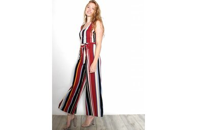 JOJO MULTICOLORED STRIPED JUMPSUIT
