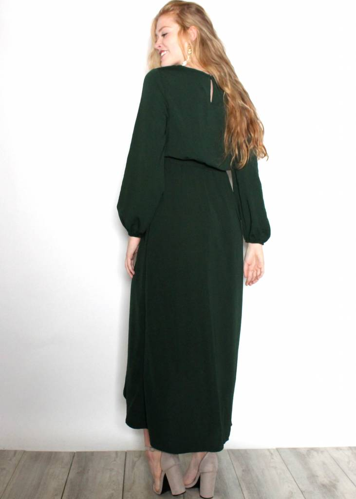LUCILLE LONG SLEEVE MAXI DRESS