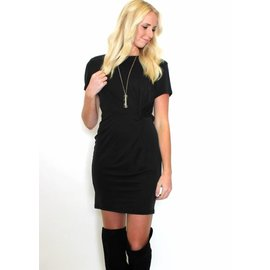 BLAKE KNOTTED T-SHIRT DRESS