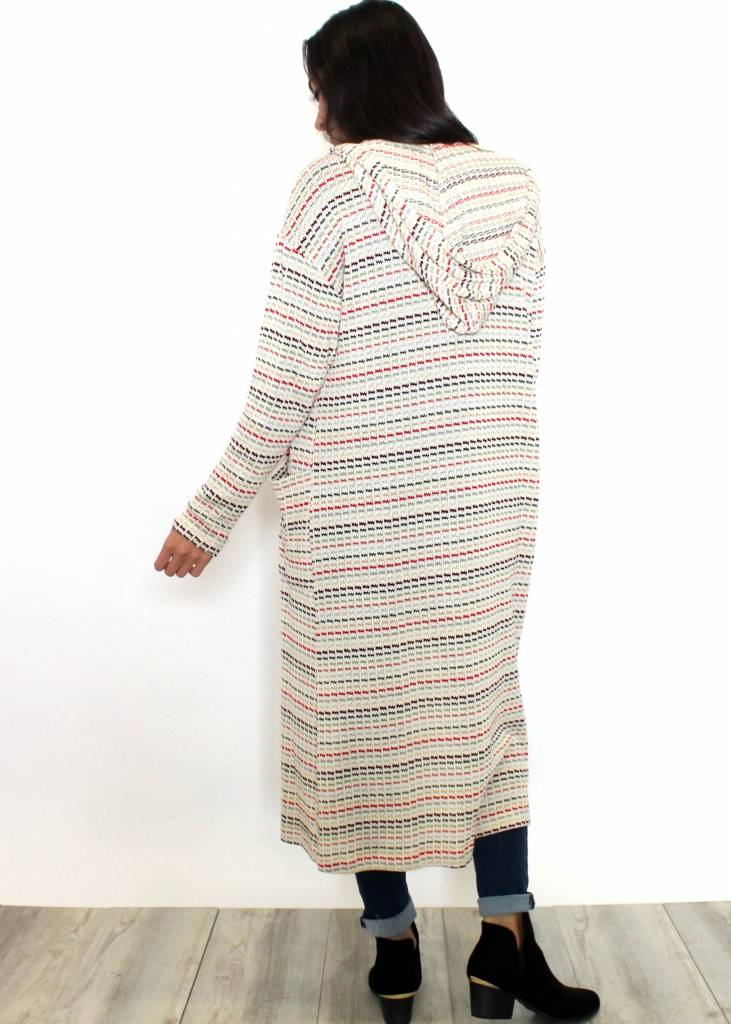 KATE MULTICOLORED DUSTER CARDIGAN
