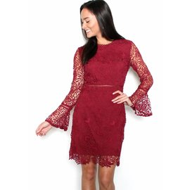 MELANIE LACE BELL SLEEVE DRESS
