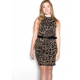 CHLOE LEOPARD PRINT DRESS