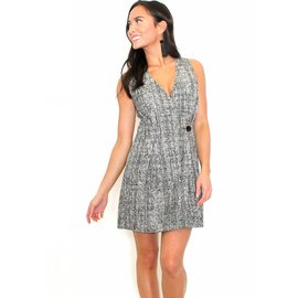 CARSON SLEEVELESS TWEED DRESS