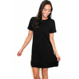 CAROLINE BLACK SHIFT DRESS