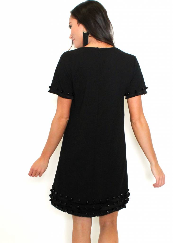 CAROLINE BLACK SHIFT DRESS