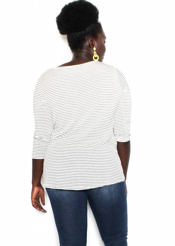 CAMILA STRIPED KNOTTED TOP