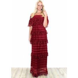 DELILAH BURGUNDY LACE DRESS
