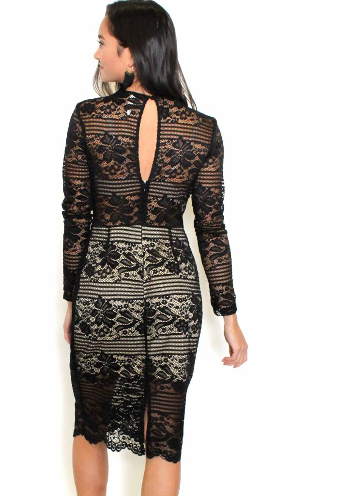 GIANNA BLACK LACE DRESS