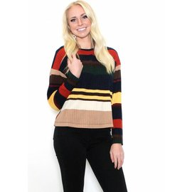 MARIAH STRIPED RIBBED TOP