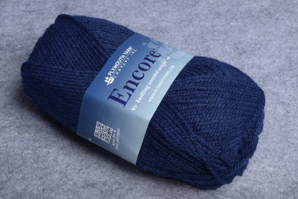 Image of Plymouth Encore Worsted 848 Navy Blue