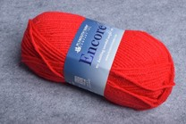 Image of Plymouth Encore Worsted 1386 Christmas Red