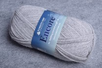 Image of Plymouth Encore Worsted 6007 Light Grey Heather