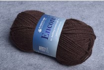 Image of Plymouth Encore Worsted 599 Deep Brown