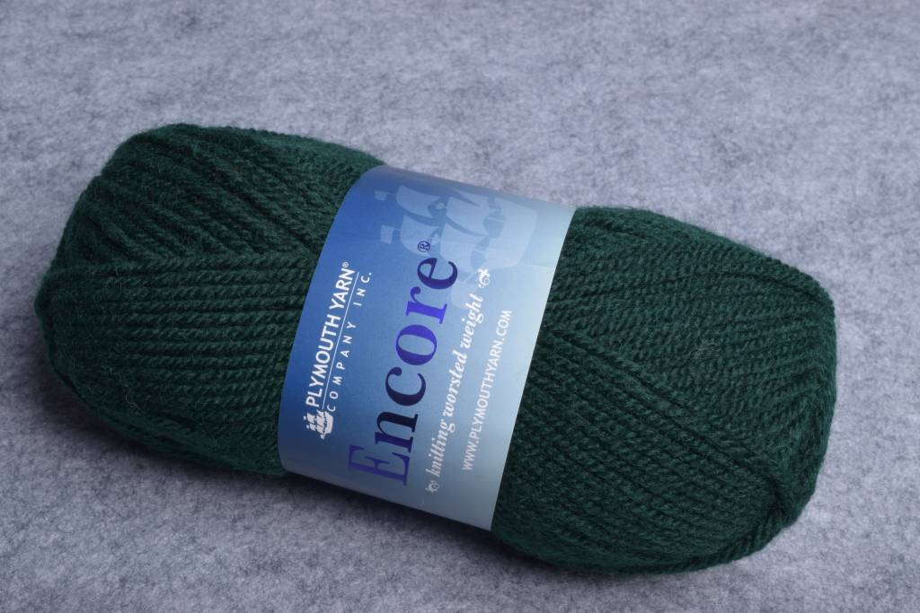 Plymouth Encore Worsted 204 Forest Green