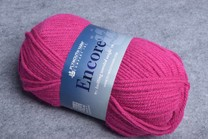 Image of Plymouth Encore Worsted 1385 Bright Fucshia
