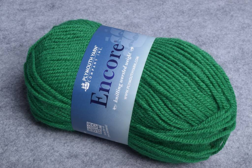 Plymouth Encore Worsted 54 Green