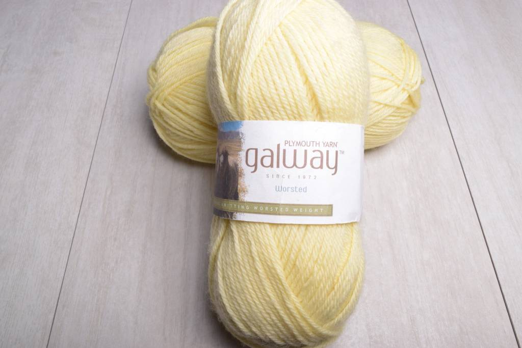 Image of Plymouth Galway Worsted 88 Light Yellow