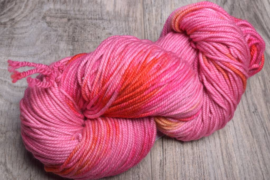 Image of Ella Rae Lace Merino Worsted 3 Pink Red Orange