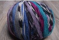 ONline Supersocke 8-Ply 1850 Magenta Blue Purple