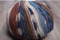 ONline Supersocke 8-Ply 1849 Brown Blue Natural