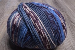 Image of ONline Supersocke 8-Ply 1848 Blue Purple White