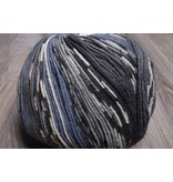 Image of ONline Supersocke 8-Ply 1847 Grey Black White Blue