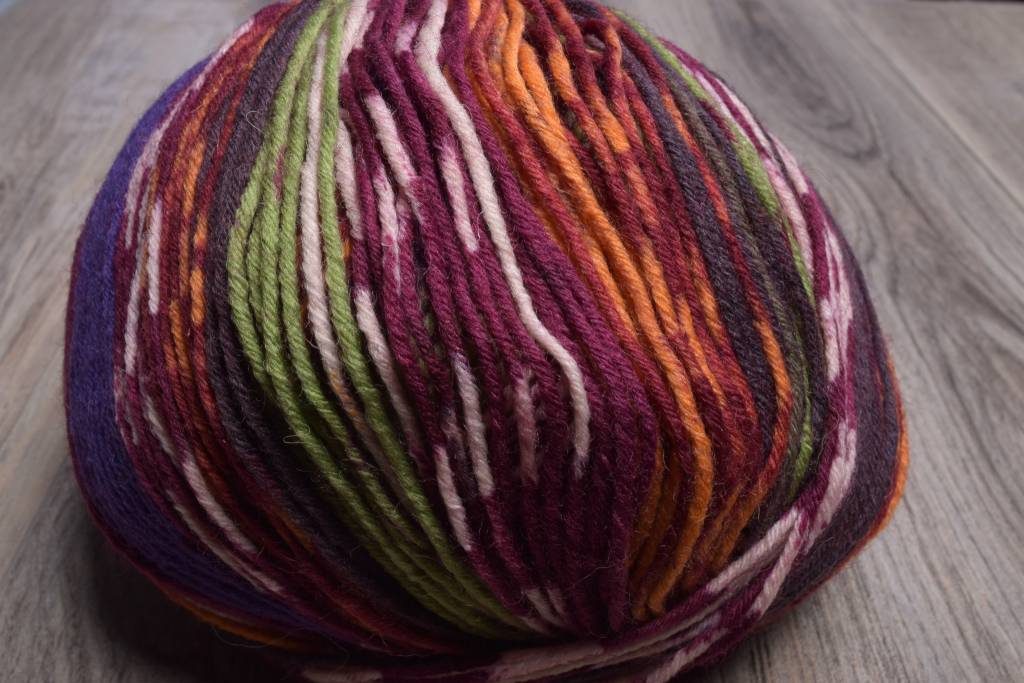 Image of ONline Supersocke 8-Ply 1852 Red Purple Orange Green