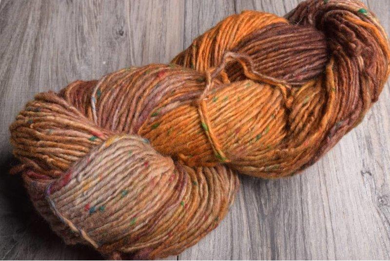 Araucania Milodon 16 Pumpkin Brown