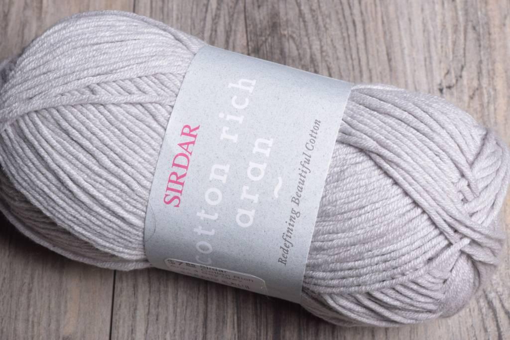 Image of Sirdar Cotton Rich Aran 4 Bay Grey