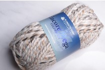 Image of Plymouth Encore Mega Colorspun 7154 White-Taupe