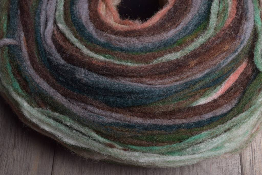 Noro Rainbow Roll 1004 Brown, Forest Green