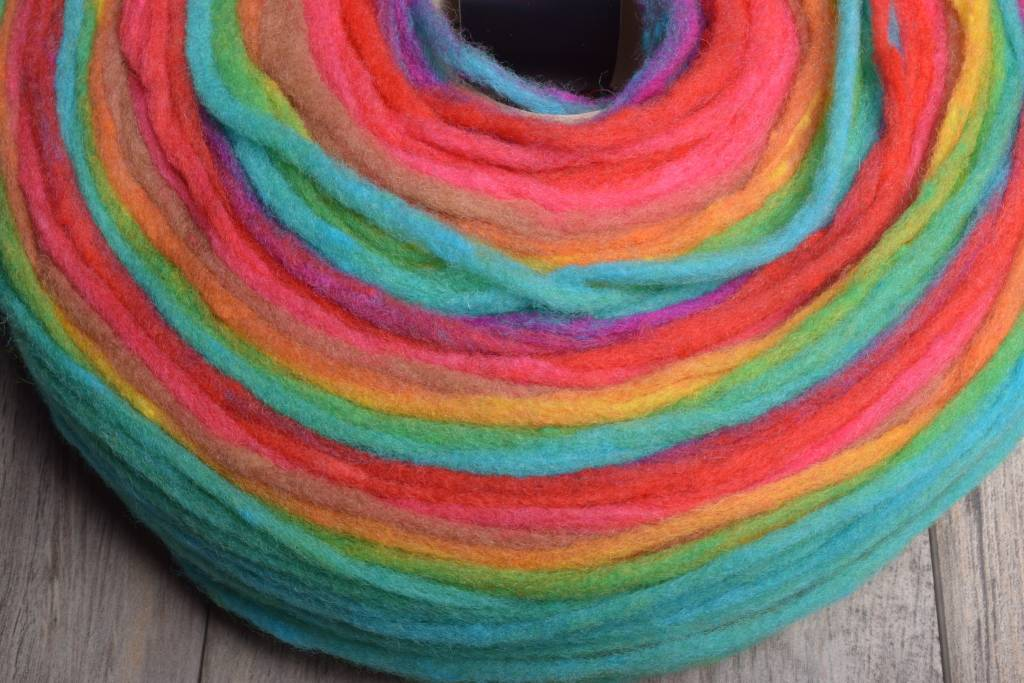 Image of Noro Rainbow Roll 1021 Neon Green, Red, Blue