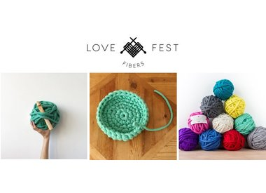Experience Love Fest Fibers' Tough Love Jumbo Yarn