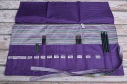 Image of Della Q Double Point Needle Roll 158-1, 18 Purple Stripe