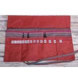 Image of Della Q Interchangeable Needle Case 185-1, 4 Red Stripe