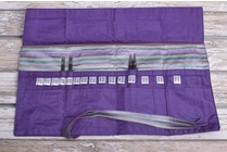 Della Q Interchangeable Needle Case 185-1, 18 Purple Stripe