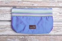 Della Q Small Zip Pouch 1112-1, 23 Ocean Stripe