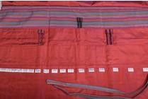 Della Q Straight Needles Roll Case 151-1, 4 Red stripe